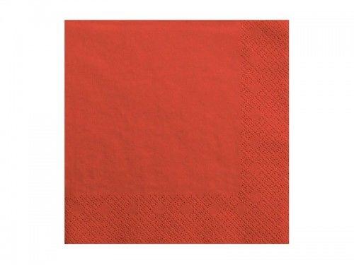 Serwetki czerwone