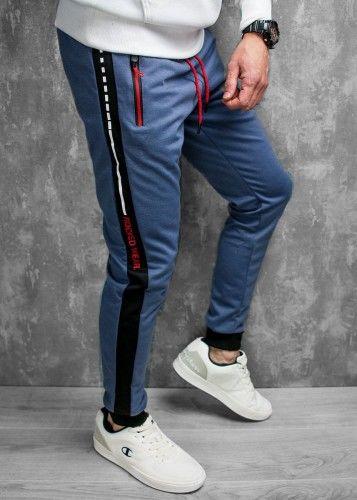 Spodnie dresowe niebieskie