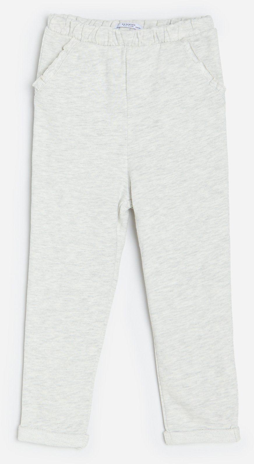 Spodnie dresowe z falbanką
