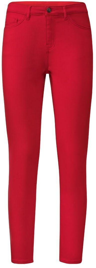 Spodnie rurki czerwone