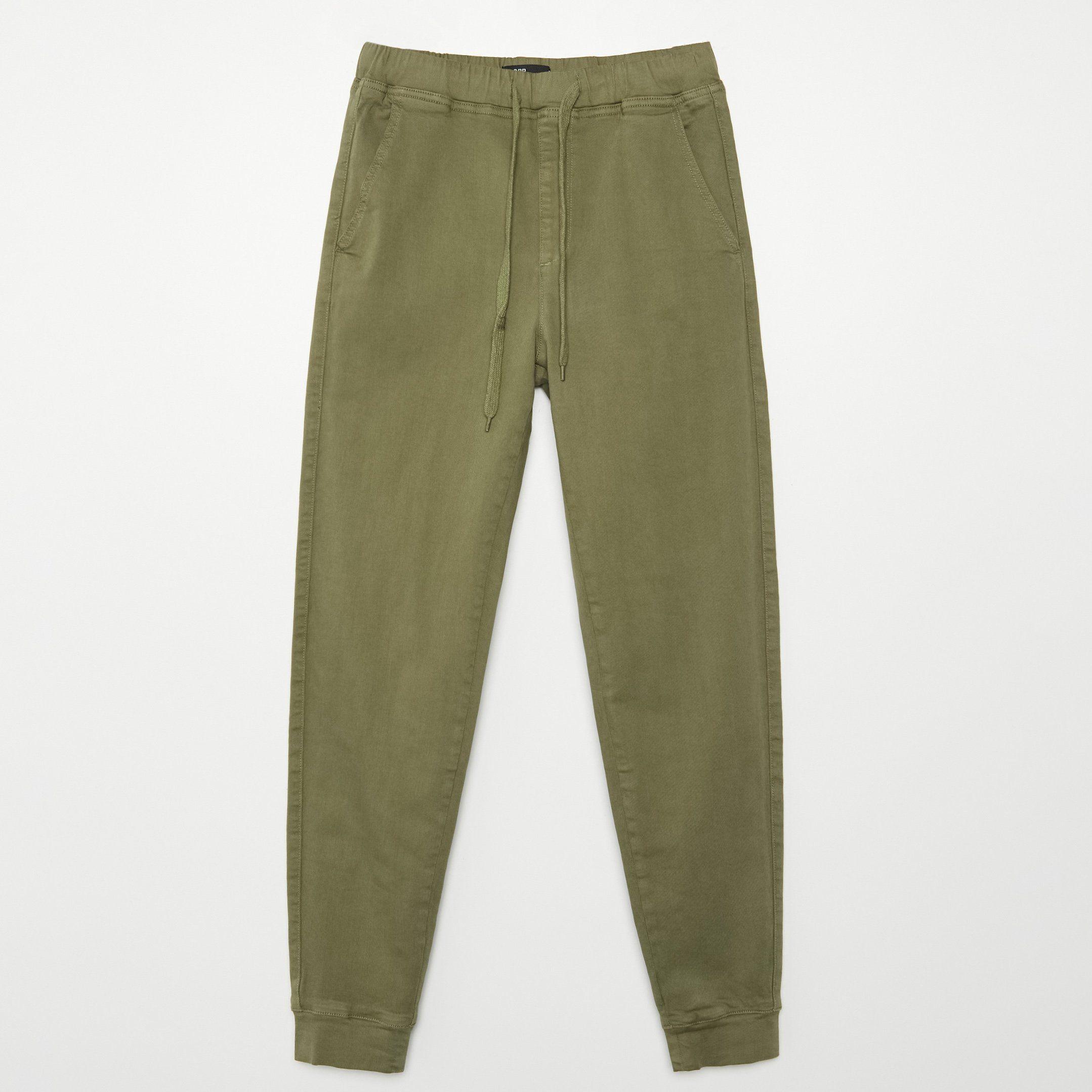Spodnie rurki khaki