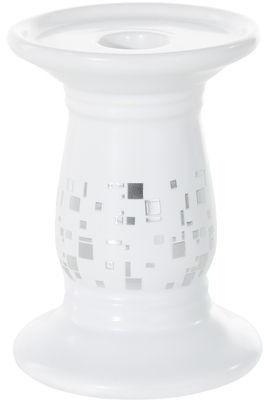 Świecznik biały