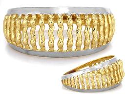 Sygnet z białego złota