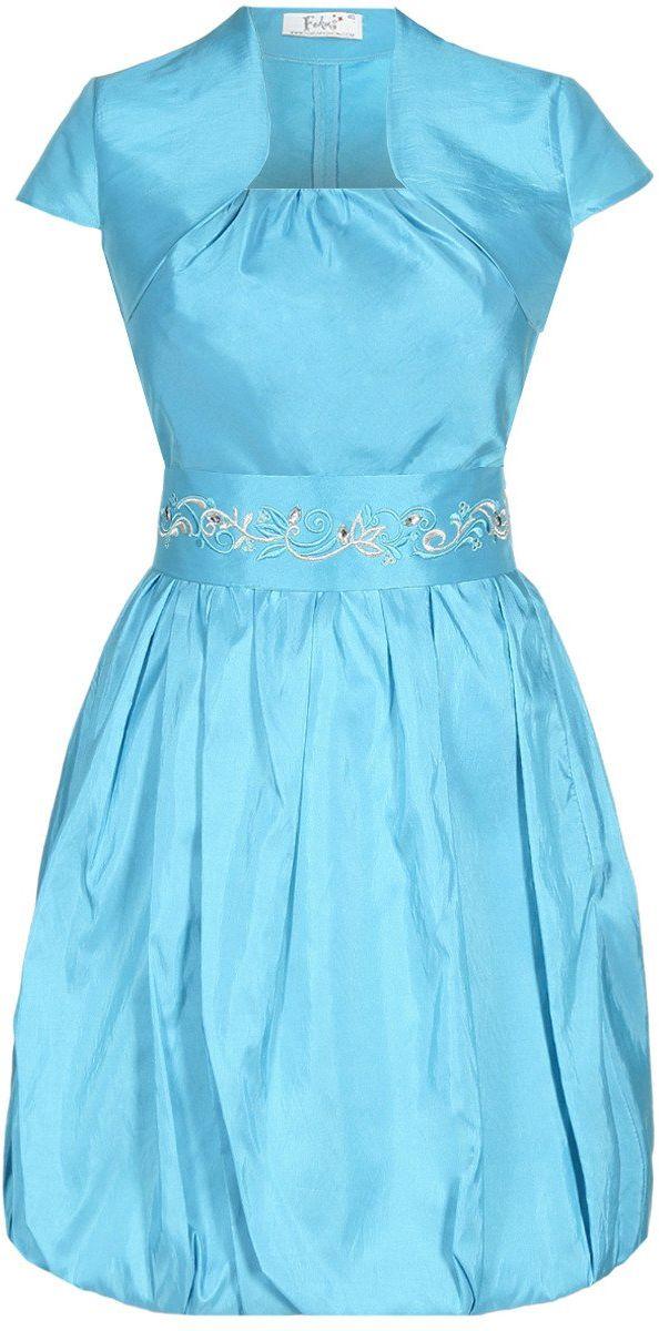 Turkusowa sukienka