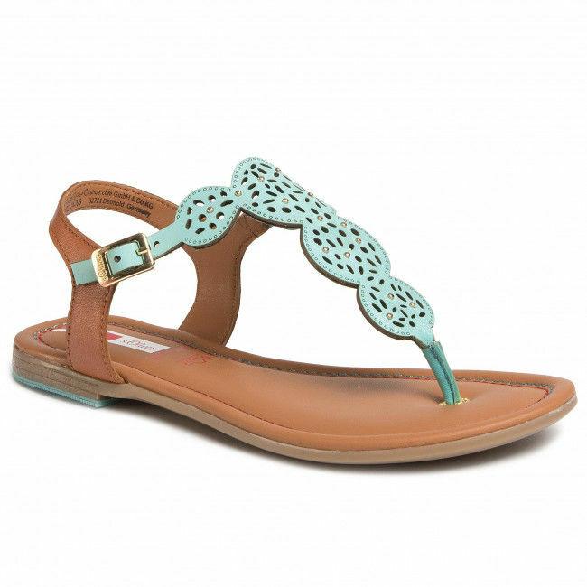 Turkusowe sandały