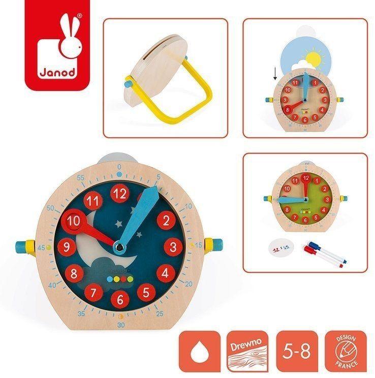 Zegar edukacyjny Janod