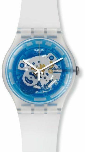 Zegarek z widocznym mechanizmem