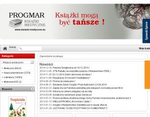 strona Progmar. Książki medyczne