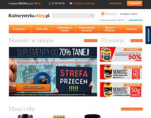 strona Kulturystyka.sklep.pl