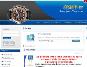 strona Zegarki.biz.pl